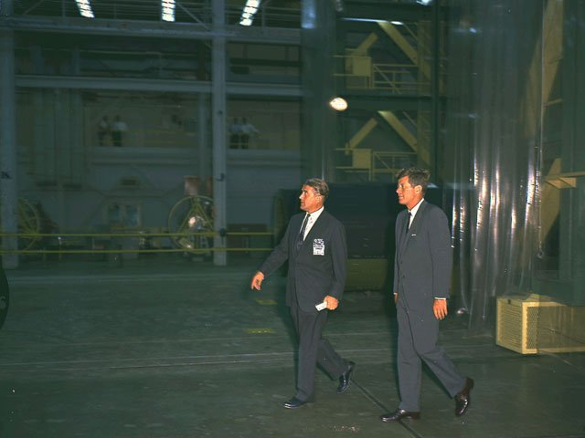 JFK and Von Braun